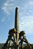 Catapulte - château d'Urquhart Photos libres de droits