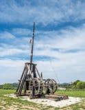 Catapulte dans Les Baux-De-Provence, France image stock