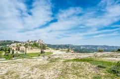 Catapulte dans Les Baux-De-Provence, France images libres de droits