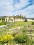 Catapulte dans Les Baux-De-Provence, France photos libres de droits