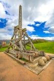 Catapulte de château d'Urquhart photographie stock