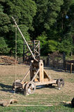 Catapulte médiévale image libre de droits
