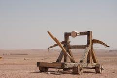 Catapulte, utilisée pour beaucoup de films photographie stock libre de droits