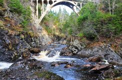 Cataract Gorge. A remote gorge near Cataract Falls which is located about 70 mile Northwest of St John's Newfoundland Canada deep in the interior of the Avalon Royalty Free Stock Photo