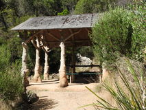 Cataract Gorge False Wood Shelter, Launceston, Tasmania Stock Image