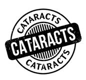 Cataracts rubber stamp. Grunge design with dust scratches. Effects can be easily removed for a clean, crisp look. Color is easily changed Stock Images