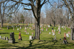 Cataraqui kyrkogård - Kingston - Kanada arkivbilder