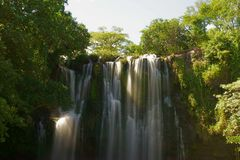 Catarata秋天, Guanacaste, Bagaces,哥斯达黎加 库存照片