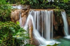 The Cataratas de Agua Azul. Waterfalls in Aqua Azul (Chiapas Royalty Free Stock Image