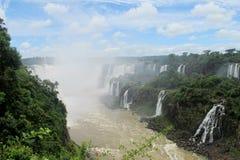 Cataratas del伊瓜苏, Iguassu瀑布全景 库存照片