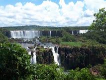 Cataratas font Iguaçu, Brésil images libres de droits