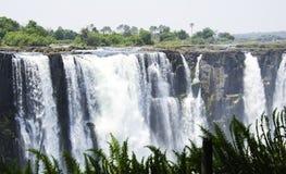 Cataratas Vitória em Zimbabwe imagens de stock royalty free