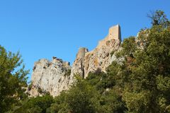 Catarrh´s castle Peyrepertuse Stock Photos
