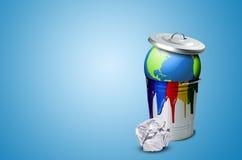 Catastrophe écologique de la terre Photos stock