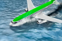 Catastrophe - Crash of Passenger plane Royalty Free Stock Images