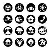 Catastrophe d'icône dans le noir Image libre de droits