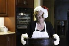 Catastrophe de cuisine de dîner de Noël Photo libre de droits