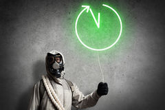 Catastrophe de radioactivité Photos libres de droits
