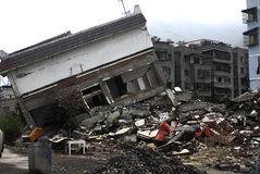 Catastrophe de tremblement de terre Image libre de droits