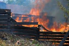 Catastrophe du feu Photo stock