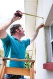 Catastrophe prête - embarquant vers le haut de la fenêtre Photographie stock libre de droits