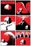 Catastrophes naturelles Photographie stock libre de droits