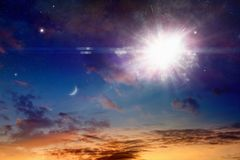 Catastrophic stellar explosion of supernova Stock Image