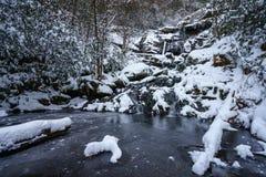 Catawba Falls in Winter Royalty Free Stock Photo