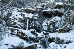 Catawba Falls in Winter Royalty Free Stock Photography