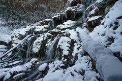 Catawba Falls in Winter Royalty Free Stock Photos
