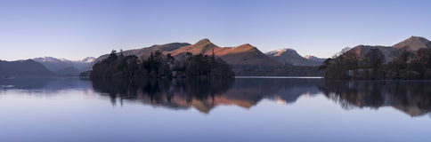 Catbells Panoramiczny Obrazy Royalty Free