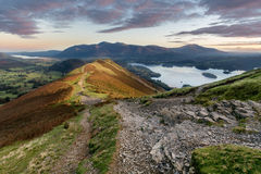 Catbells-Sonnenaufgang, Keswick, See-Bezirk, Großbritannien Lizenzfreie Stockfotografie