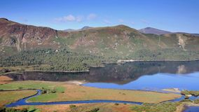 Catbells. A timelapse video across Derwentwater to Catbells fell in the English Lake District national park stock video footage