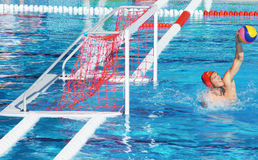 Catch of the Australian Goalkeeper Stock Image