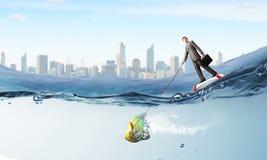 Catch big fish Stock Photo