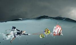Catch big fish Stock Image