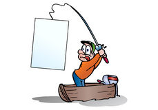 Catch a blank banner stock illustration