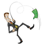A catch is Businessman isolated Royalty Free Stock Image