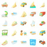Catch the car icons set, cartoon style. Catch the car icons set. Cartoon set of 25 catch the car vector icons for web isolated on white background Stock Photo