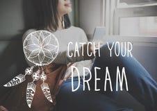 Catch Dream Believe Aspiration Motivation Concept Royalty Free Stock Photography