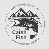 Catch fish symbol, vector Stock Photo