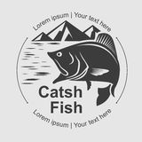 Catch fish symbol, vector Stock Image