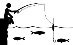 Catch fish Royalty Free Stock Image