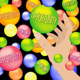 Catch the Opportunity. Vector graphic Royalty Free Stock Image