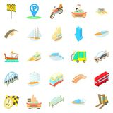 Catch the taxi icons set, cartoon style. Catch the taxi icons set. Cartoon set of 25 catch the taxi vector icons for web isolated on white background Royalty Free Stock Photo