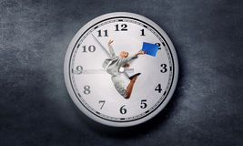 Catch up with time Stock Images