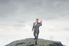 Catch up your goals Stock Images