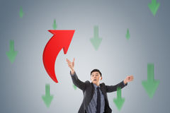 Catch the upward arrow Stock Images