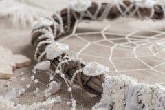 Catcher ονείρου με τα μαργαριτάρια Στοκ εικόνα με δικαίωμα ελεύθερης χρήσης
