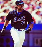 Catcher του Mike Piazza New York Mets Στοκ φωτογραφία με δικαίωμα ελεύθερης χρήσης